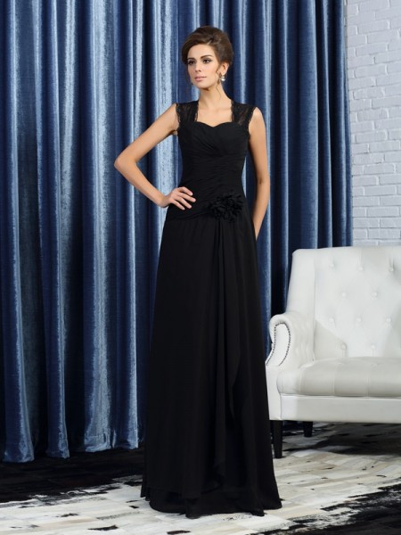 A-Line/Princess Straps Mother of the Bride Dress with Long Chiffon