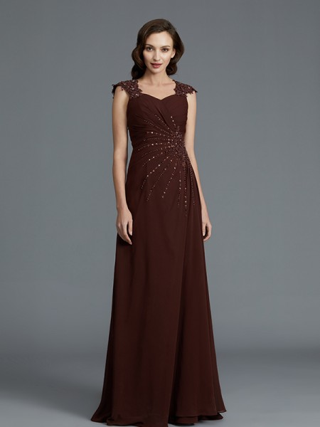 A-Line/Princess Sweetheart Chiffon Floor-Length Mother of the Bride Dresses