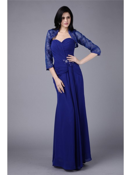Sheath/Column Sweetheart Applique Chiffon Mother of the Bride Dress